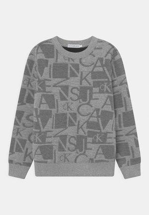 QUILTED LOGO - Felpa - grey heather/black