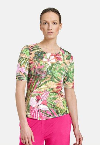 Print T-shirt - violet/pink/green