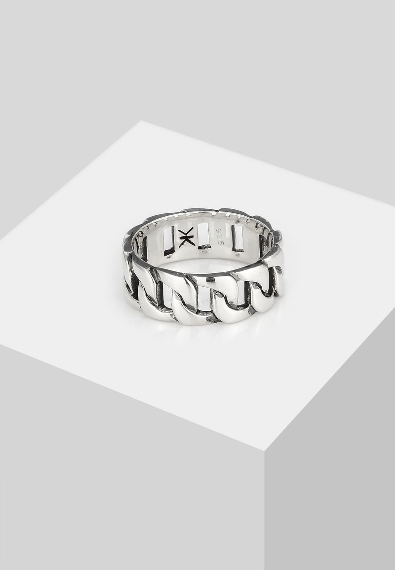 KUZZOI - CHAIN LOOK  - Ring - silver-coloured