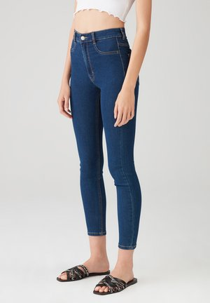 Jeansy Skinny Fit - dark-blue denim