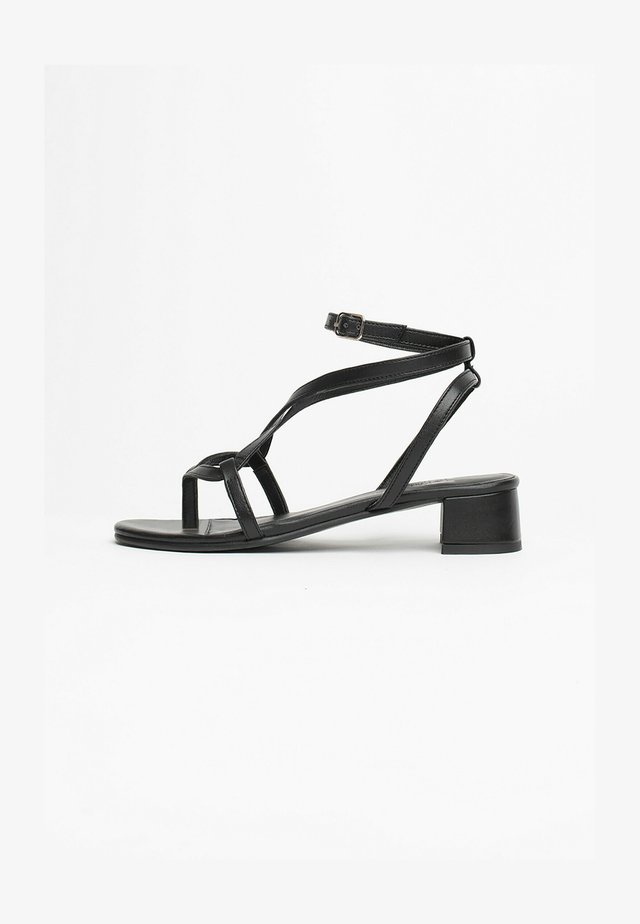 HALONA - Sandalen met hoge hak - black