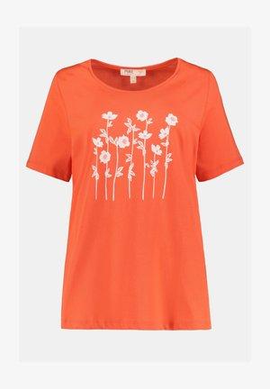 Print T-shirt - korallenrot