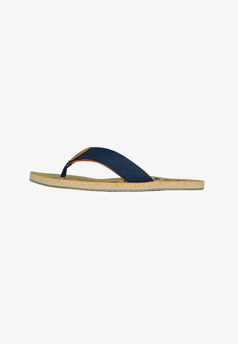 MADSea - T-bar sandals - kork/dunkelblau/orange
