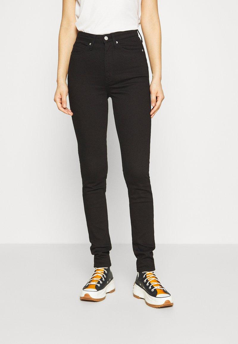 Calvin Klein Jeans - HIGH RISE  - Skinny džíny - eternal black