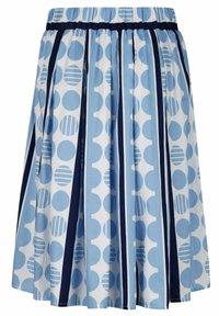 Alba Moda - ROCK - Pleated skirt - blue/white - 3