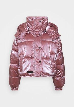 OVERSIZE WITH SHINY - Winter jacket - pink