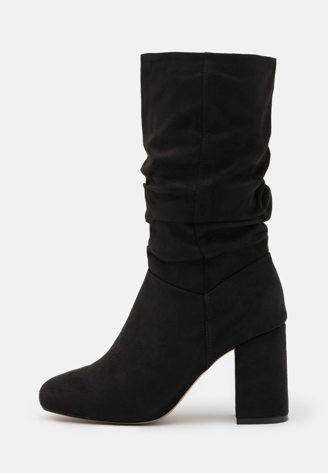 WIDE FIT BLOCK BOOT - Bottes - black
