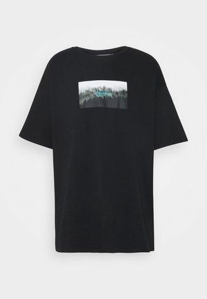NATURE PRINT OVERSIZED - T-shirt z nadrukiem - black