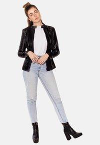 LEATHER HYPE - ARYAN - Leather jacket - black - 1
