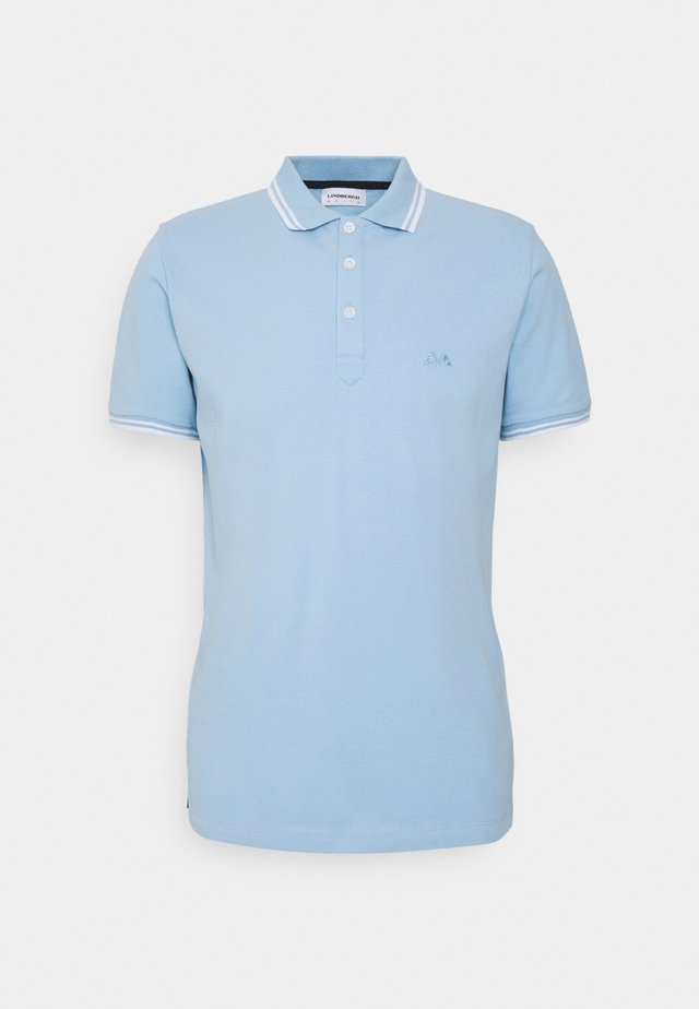 CONTRAST PIPING - Polo - light blue
