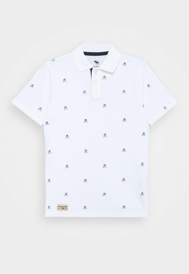 DYE EFFECT - Poloshirt - white