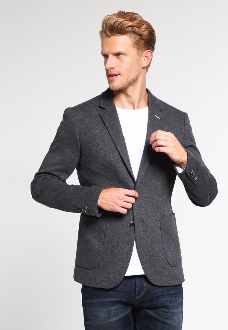 Pier One - Blazer jacket - grey melange