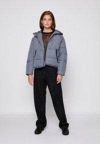 Calvin Klein Jeans - BIG LOGO PUFFER - Winter jacket - shining armor - 3