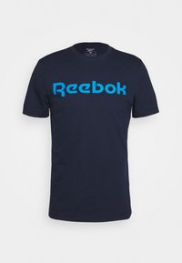Reebok - LINEAR READ TEE - Print T-shirt - dark blue - 3