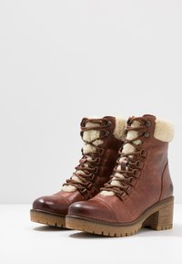 Apple of Eden - AMELIE - Lace-up ankle boots - brown - 4
