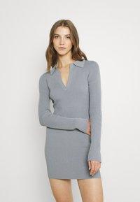 Bec & Bridge - HARPER KNIT MINI DRESS - Jumper dress - storm - 0
