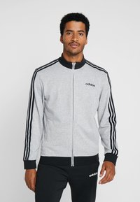 adidas Performance - ESSENTIALS SPORT COTTON TRACKSUIT - Tepláková souprava - medium grey heather/black - 0