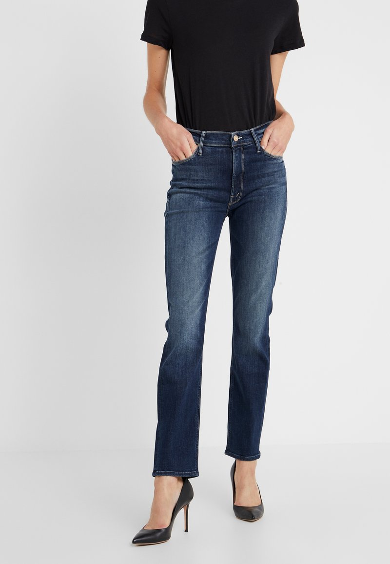 Mother - THE MID RISE DAZZLER ANKLE - Straight leg jeans - on the edge