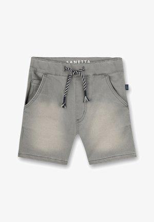 Denim shorts - grey