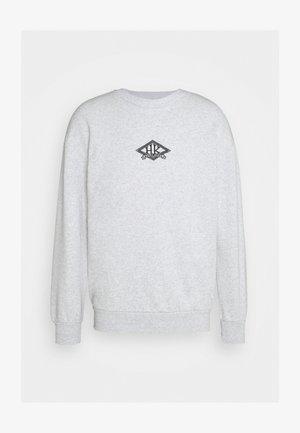 ARTWORK CREW - Sweatshirt - grey melange/black