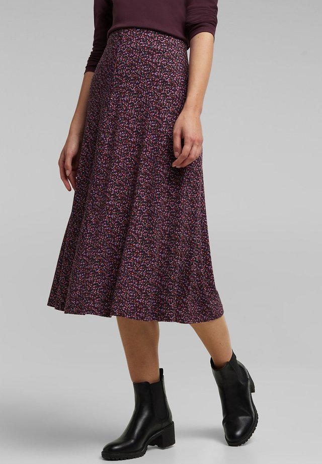 A-line skirt - aubergine