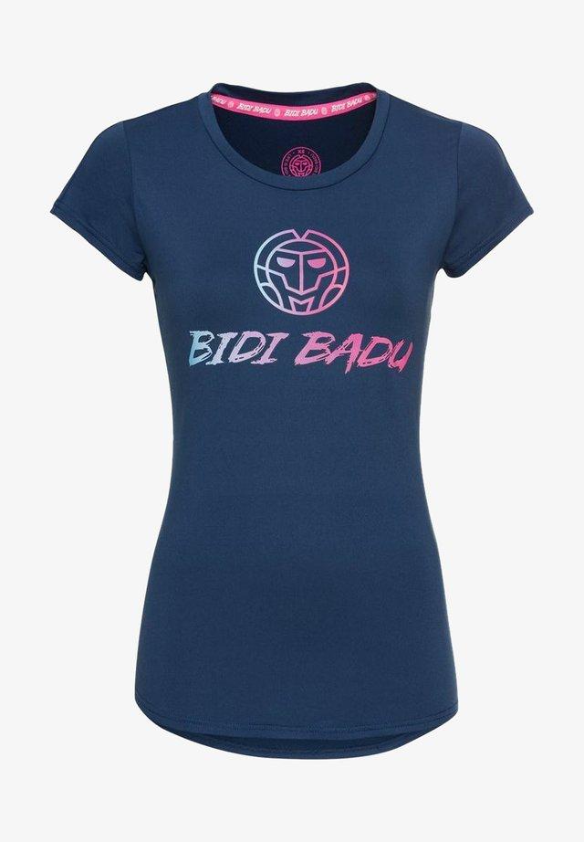 Print T-shirt - dunkelblau
