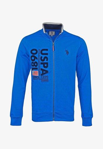 MIT REISSVERSCHLUSS - Zip-up sweatshirt - blau