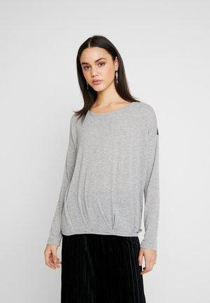 VMMYHONIE PLEAT - Long sleeved top - light grey melange