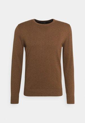 BASIC CREW NECK  - Trui - soft hazelnut brown melange