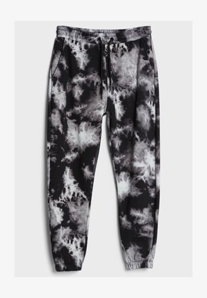 MIT TIE-DYE-PRINT - Tracksuit bottoms - grey