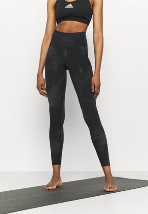 MERIDIAN PRINTED - Leggings - jet gray