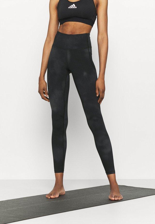 MERIDIAN PRINTED - Leggings - jet gray