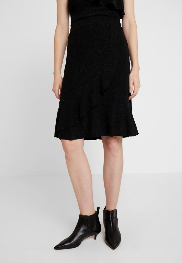 MINU SKIRT - A-Linien-Rock - pitch black