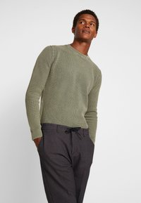 Sisley - Trousers - mottled dark grey - 3