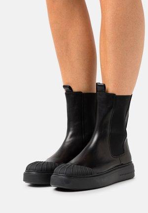 FORCE - Platform ankle boots - schwarz
