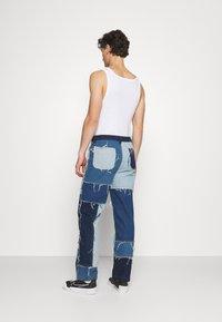 Jaded London - PATCHWORK SKATE - Straight leg jeans - blue - 2