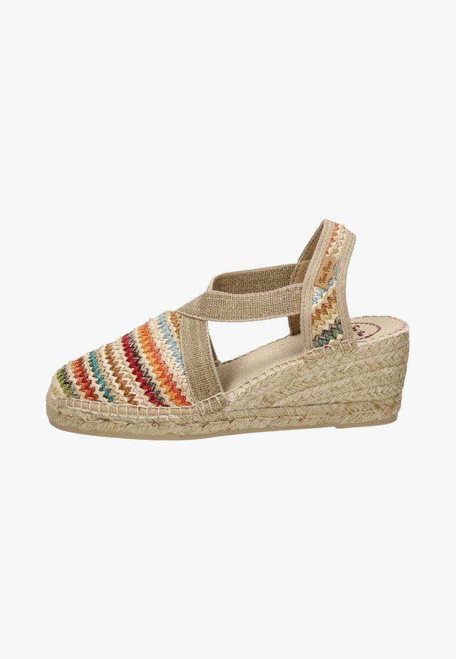 Sandalen met sleehak - multi