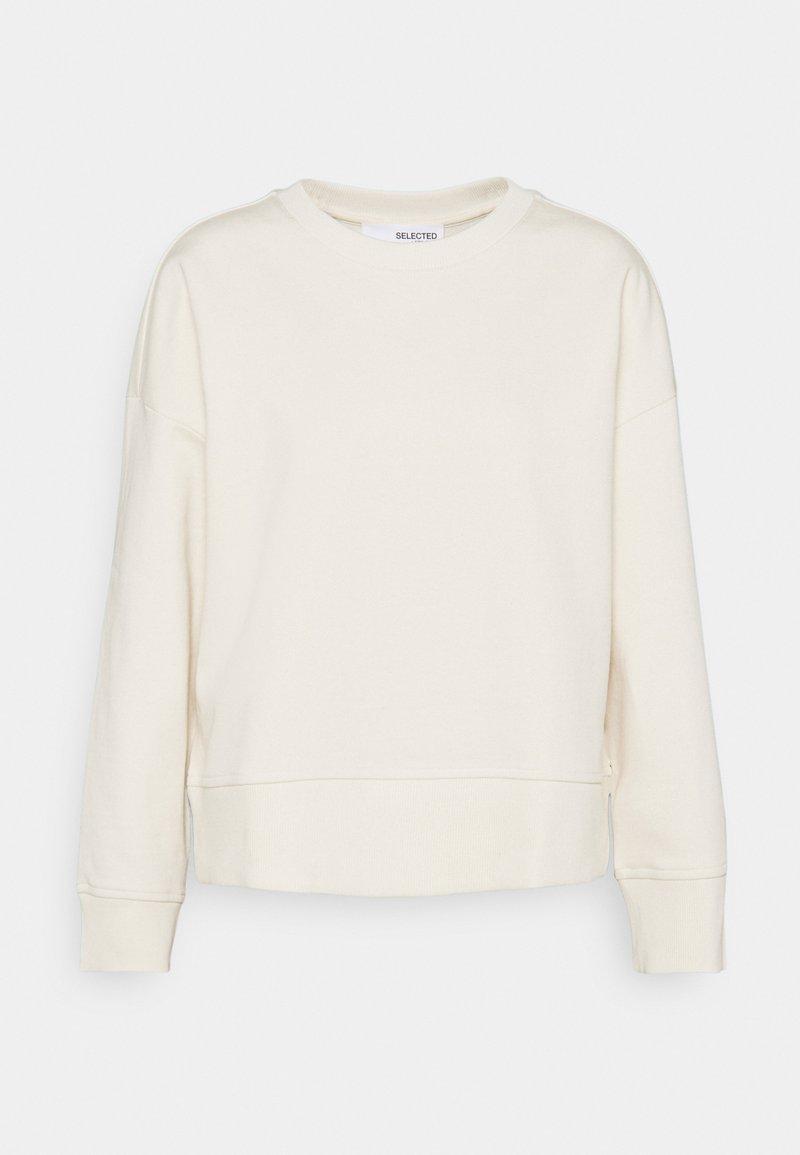 Selected Femme - SLFLARNA  O NECK  - Sweatshirt - whisper white