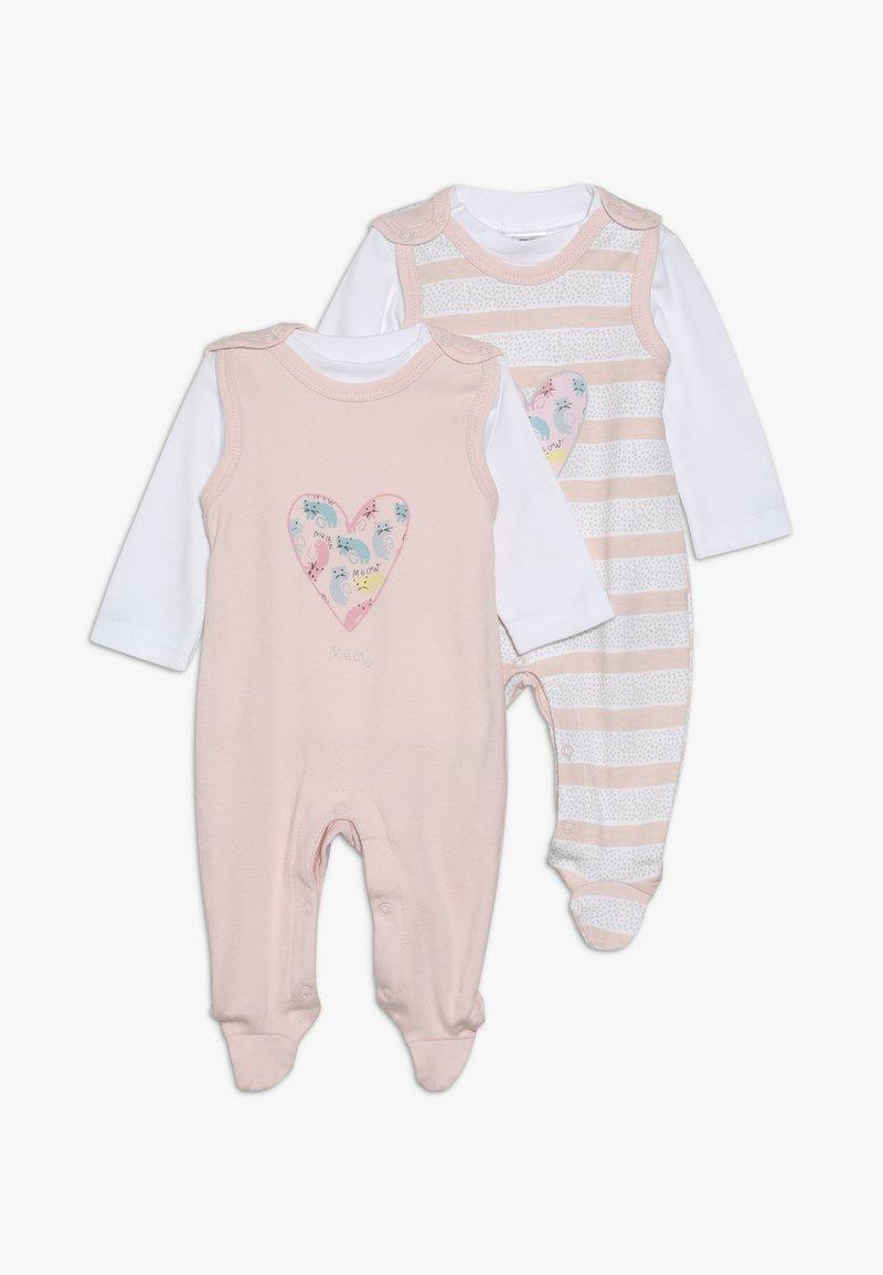 Jacky Baby - SET GIRLS 2 PACK - Dupačky na spaní - light pink