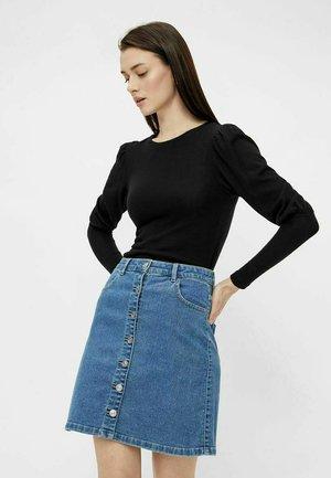 OBERTEIL STATEMENT-ÄRMEL - Long sleeved top - black