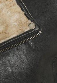 Freaky Nation - BJÖRN - Leather jacket - black/beige - 2