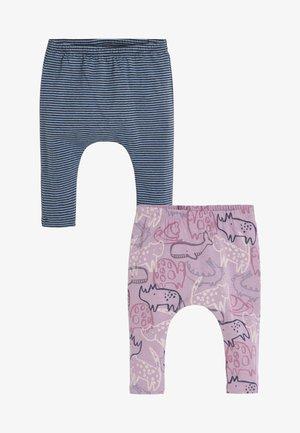 2 PACK - Leggings - Trousers - purple