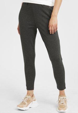 IHKATE ZIP PA - Trousers - dark grey melange