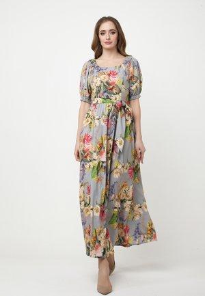 KAMEYA - Maxi dress - grau/gelb