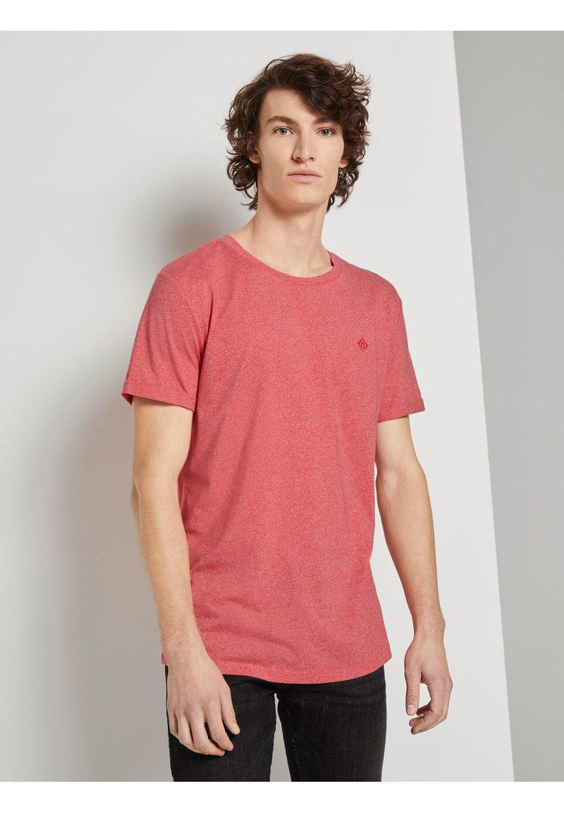 TOM TAILOR DENIM - Basic T-shirt - normal red melange