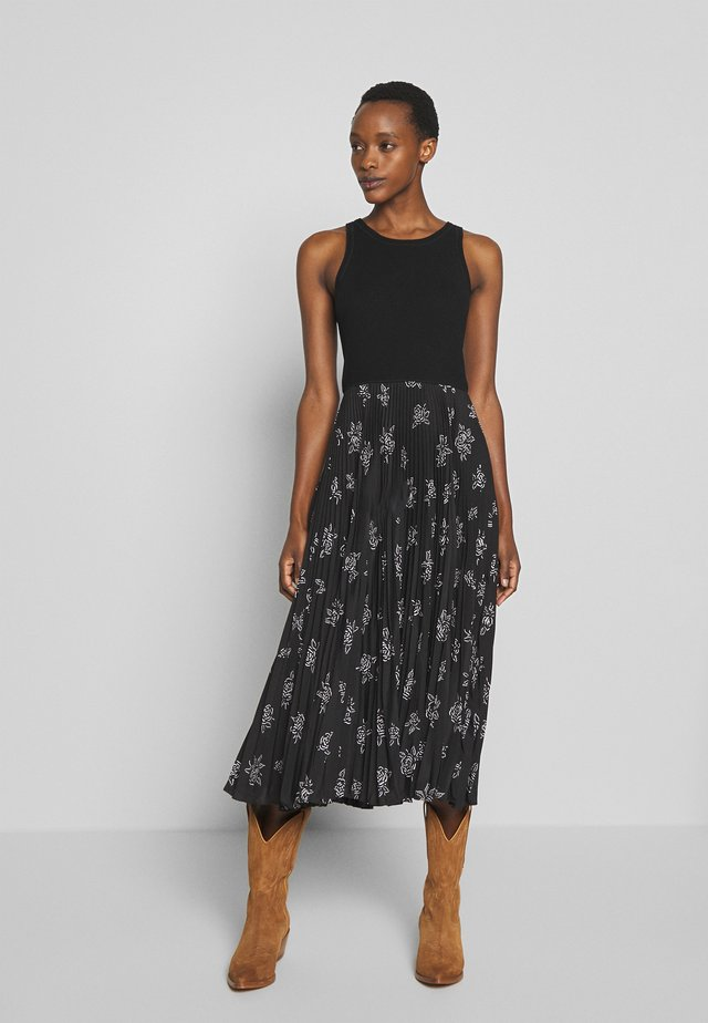 SLEEVELESS CASUAL DRESS - Day dress - black rose floral