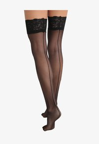 Bluebella - BACK SEAM LEG TOPPED STOCKINGS - Over-the-knee socks - black - 2