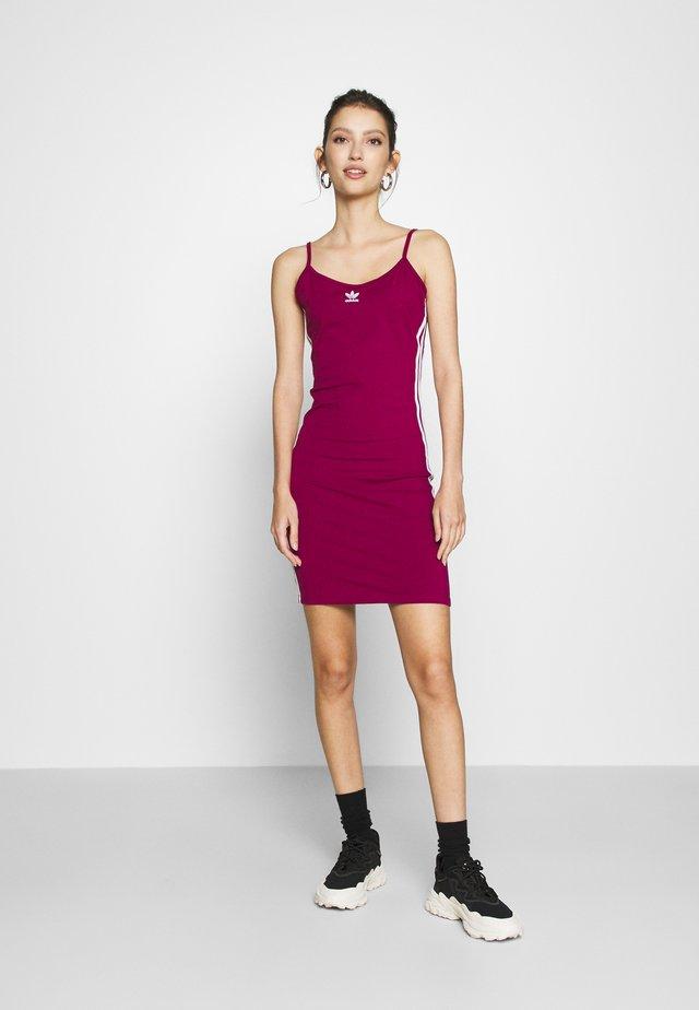 TANK DRESS - Shift dress - power berry/white