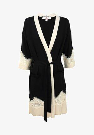 MIT SPITZENDETAILS - Short coat - black