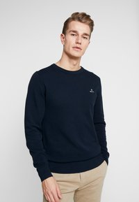 GANT - C NECK - Neule - evening blue - 0